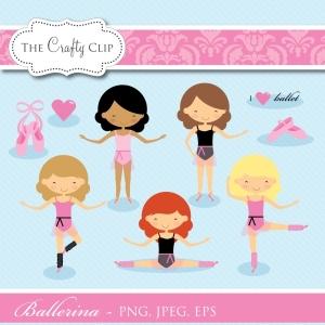 Ballerina Clip Art Set
