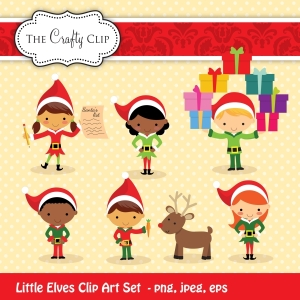 Little Elves Clipart Set by The Crafty Clip