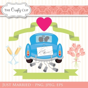 Just Married clipart